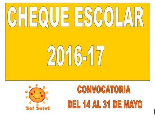 CHEQUE ESCOLAR CURSO 2016-17