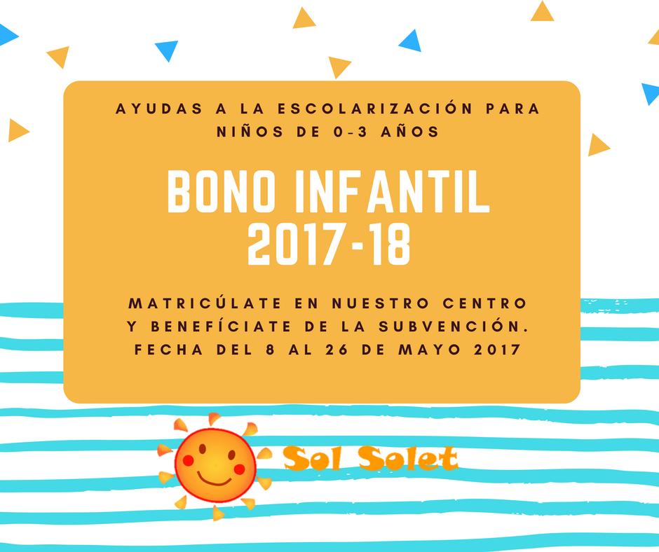 ATENCIÓN SOLICITUD BONO INFANTIL